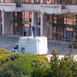 Мобилната станция за въздуха се премести в центъра на Русе