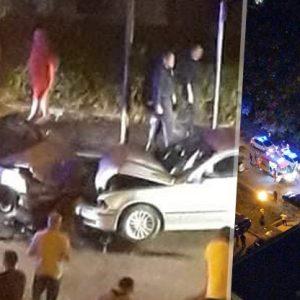 Пияна шофьорка се удари челно в БМВ