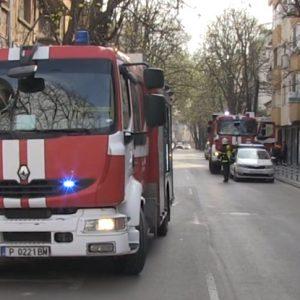 Пожарни стреснаха хората в центъра на Русе