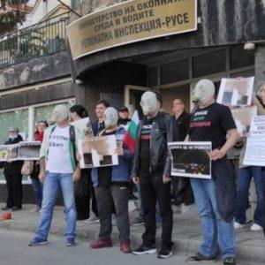 Протестиращи поискаха оставката на правителството заради мръсния въздух в Русе